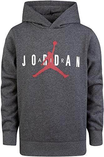 Jordan Boy's Air Fleece Hoodie (S, Charcoal Heather) ()