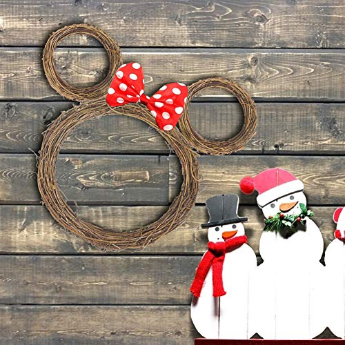 HAKACC 6 PCS Grapevine Wreaths, Wood Wreath, 12 Inch and 6 Inch Wreaths for Crafts Holiday Decoration