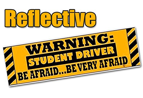 Zone Tech Warning Student Driver Vehicle Bumper Magnet - Premium Quality Reflective Warning Student Driver Bumper Safety Sign - Beginner Driver