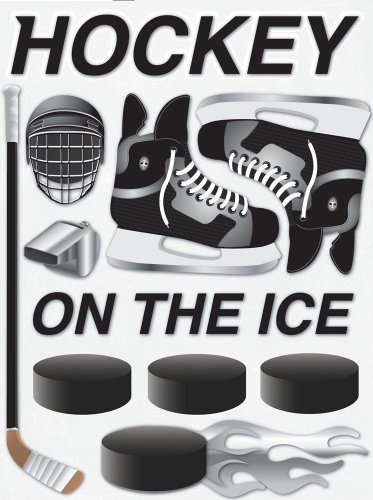 (Reminisce Real Sports 3-Dimensional Icon Sticker, Hockey)