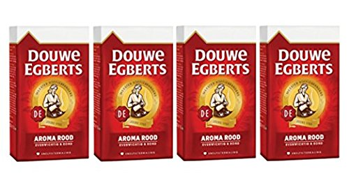 Douwe Egberts Ground Coffee - Douwe Egberts Aroma Rood Ground Coffee, 17.6-Ounce (Pack of 4)