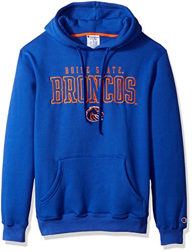 Champion Adult NCAA Men's Huddle Up 2 Pullover Hooded Fleece, Blue, XX-Large
