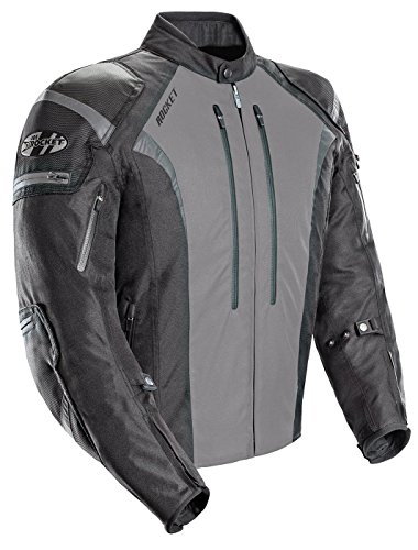 Joe Rocket Atomic Men's 5.0 Textile Motorcycle Jacket (Grey, Large)