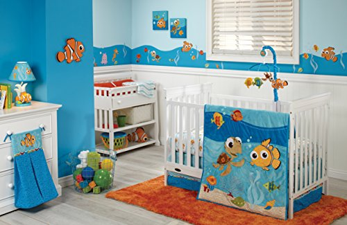 Disney Finding Nemo 4 Piece Crib Bedding Set, Blue