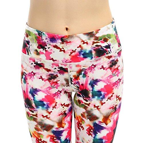 De la Mujer de la phennie–Mallas Pantalones Impreso Activo Yoga Running Leggings medias de Stretch flor de cerezo