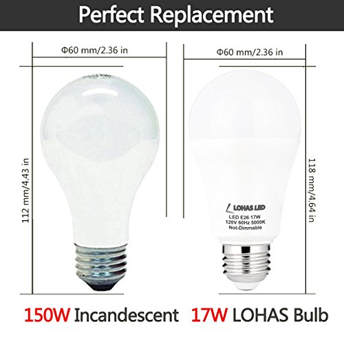 a19 led bulb 150 watt led light bulbs equivalent 17w a e26 bulb. Black Bedroom Furniture Sets. Home Design Ideas