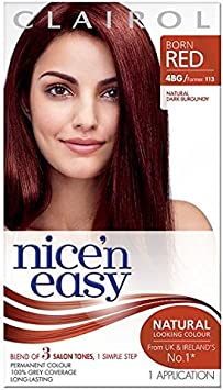Nice & Easy Tinte de pelo natural oscuro burdeos 4BG: Amazon ...