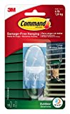 Command Outdoor Window Hook, Large, Clear, 1-Hook
