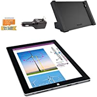 Microsoft Surface 3 Bundle - 4 Items: 4GB 64GB Wi-Fi Only Quard-Core 10.8-Inch Tablet Windows 10 Pro, Surface Dock, Silicon Power 32GB Elite microSDHC Card and 2-in-1 Travel Charger