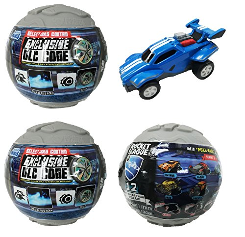 (Rocket League Mini Pull-Back Racer Car Mystery Ball Set of 3 - With Possible DLC)