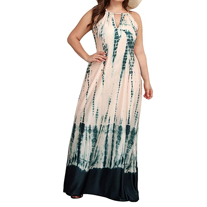 Tomppy Women Plus Size Maxi Dresses Casual Summer Sleeveless ...
