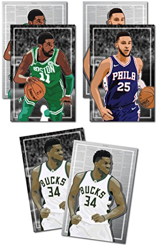 3 Posters of NBA Rising Stars - Giannis