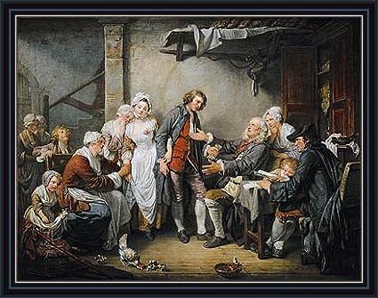 Amazon Greuze The Village Agreement 1761 Canvas Art Print