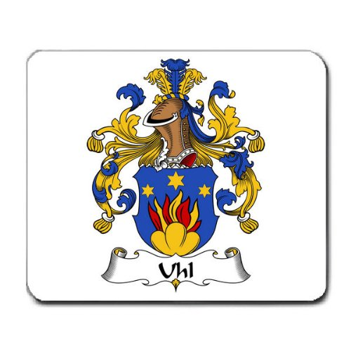 Uhl Family Crest Coat of Arms Mouse Pad