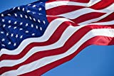 VSVO American Flag-Embroidered Stars Sewn Stripes Brass Grommets U.S. Flags-Long Lasting Nylon Built for Outdoor Use.