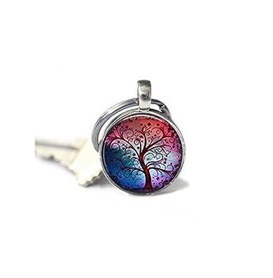 Árbol de la vida llavero, con llavero, Mimi llavero, árbol ...