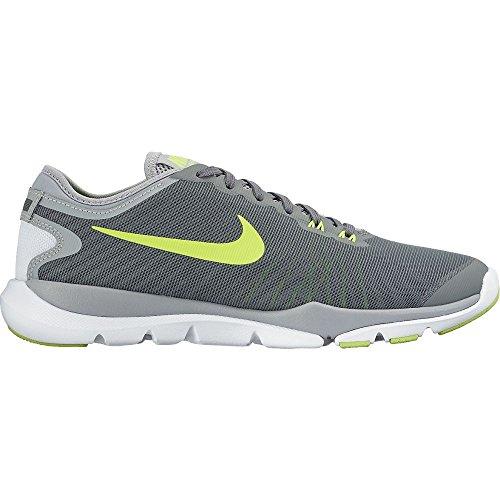 Nike Flex Supreme TR 4 Womens Training Shoe (11 B US, Cool Grey/Volt-Pure Platinum-White)