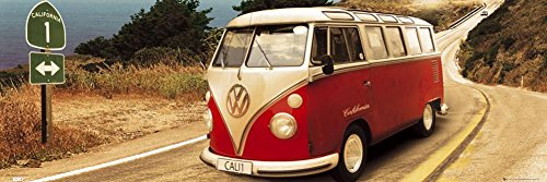 VW Camper Route One Panoramic Photo Art Print Poster 36x12