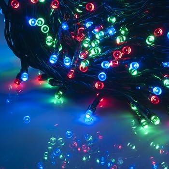 Weanas RGB Solar Power String Fairy Lights 100 LED Multi