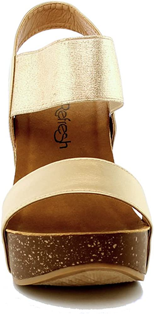 WestCoast Womens Ankle Strap Comfort Criss Cross Platform Wedge Sandals