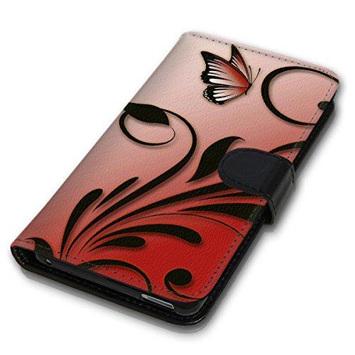 Wallet Book Style Flip Handy Tasche Case Schutz Hülle Schale Motiv Etui für Apple iPhone 6 Plus / 6S Plus - Design Flip MV158