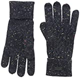 Fred Perry Men's Flecked Cable Gloves, Navy/Black, Medium
