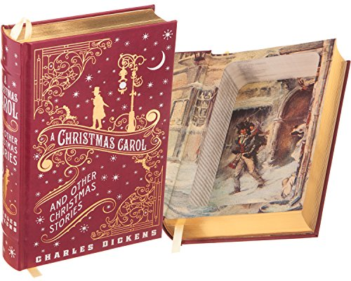 Real Hollow Book Safe - A Christmas Carol by Charles Dickens (Leather-bound) (Magnetic Closure Optional)