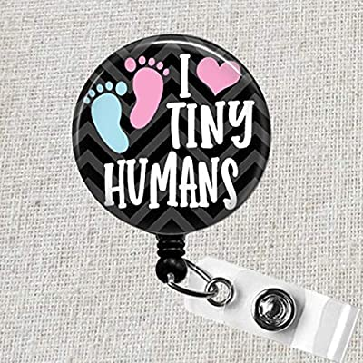 Tiny Hearts Fabric Covered Button Badge Reel