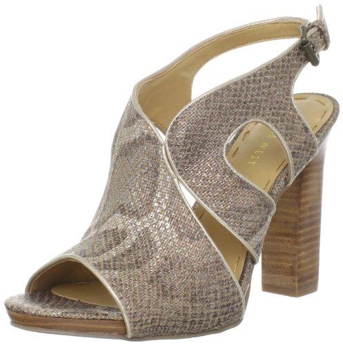Nine West Women Misspriss Ankle-Strap Bronze Multi/Light Natural Fabric
