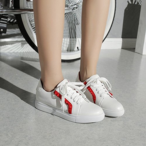 Sneakers Comfort Fashion Up Lace Border Casual Red Decorative Carolbar Women's wYqAHx8