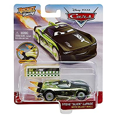 Disney Cars XRS Rocket Racing 1:64 Die Cast Car with Blast Wall: Trunk Fresh #34 Steve 'Slick' LaPage: Toys & Games