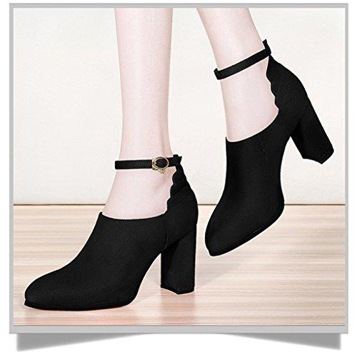 Meijili Plataforma Heel Black Mujer 8cm ddqxwrvB