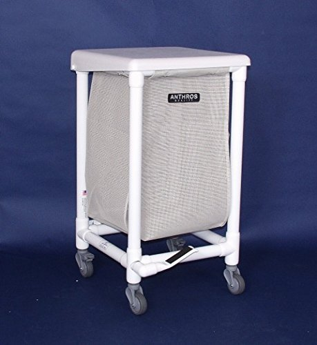 Anthros Medical H1410-3F Hamper, 24 Gal, 1 Bin, Lid, Foot...
