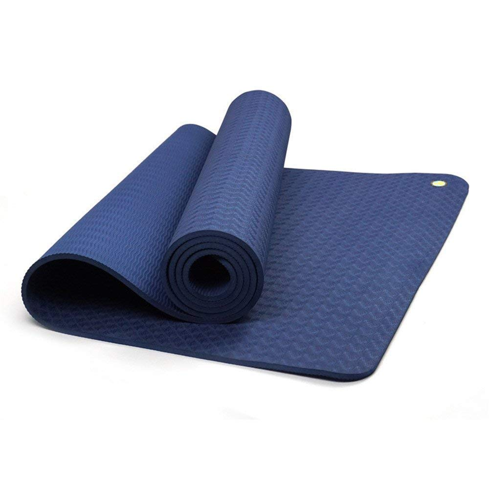 FORTR Home Gym Yoga-Matte Outdoor-Campingmatte 6mm blau umweltfreundliche Yogamatte