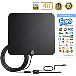 cDream Best TV Antenna Indoor 50 Mile 1080P HD Antenna High Perform Amplifier Better Reception
