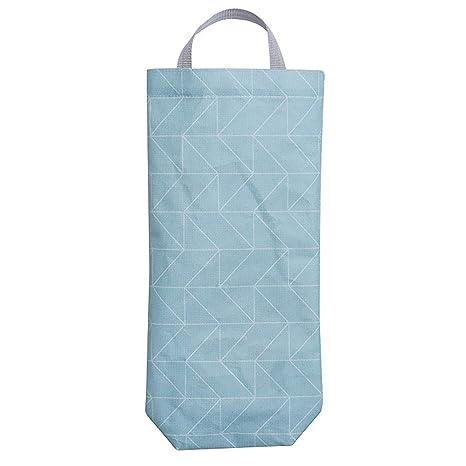 Bolsa de almacenamiento dispensador de bolsas de comestibles, impermeable, para colgar en la pared, organizador de tela Oxford Tamaño libre 1#