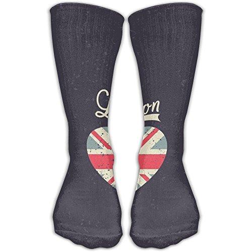 London Love Women & Men Socks Soccer Sport Tube Stockings Length 30cm -