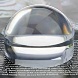 YOCTOSUN 2.5 Inch Dome Magnifier 5X Acrylic Paperweight Reading Magnifying Glass Optical Half Ball Lens with Gift Box and Polishing Pouch