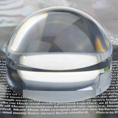 YOCTOSUN 2.5 Inch Dome Magnifier 5X Acrylic Paperweight Reading Magnifying Glass Optical Half Ball Lens with Gift Box and Polishing -