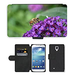GoGoMobile Flip PU Leather Wallet Case with Credit Card Slots // M00118018 Hoverfly Hornet Mimic // Samsung Galaxy S4 S IV SIV i9500
