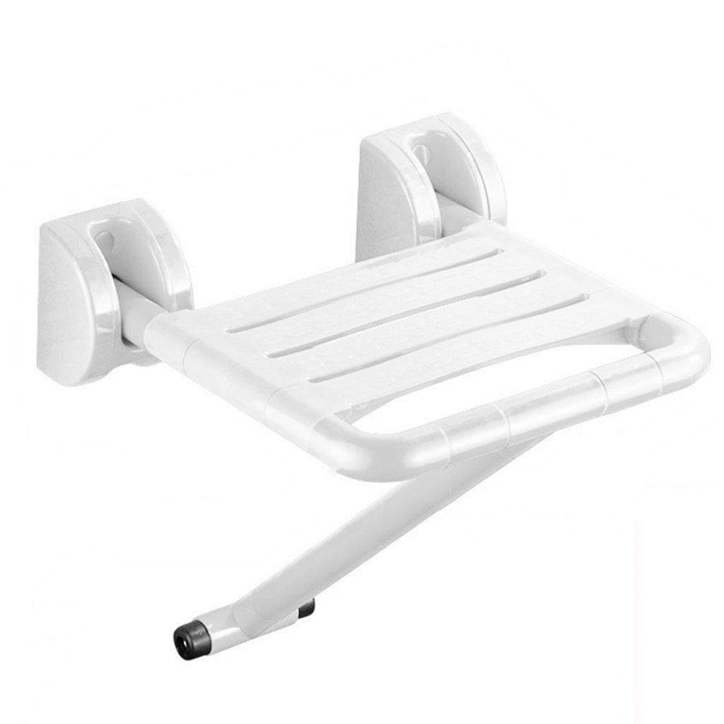 TH シャワーチェア 高齢者セーフ折り畳み式バンドレスレギンストイレスツールバスルームシートシャワースツール 風呂椅子 ( 色 : 白 ) B07BW2S84V 白 白