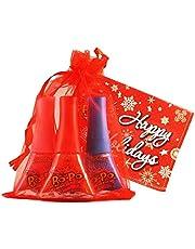 Bo-Po Scented Nail Polish 3 Pack (in Shipper, 'Happy Holidays' Tag, Red Bag) Nail Polish
