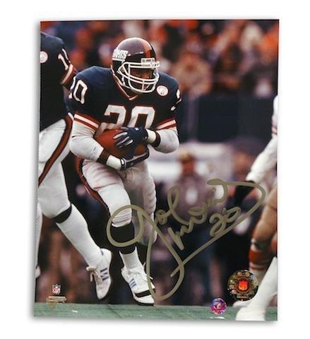 Signed Joe Morris Photograph - 8 X 10 - Autographed NFL Photos