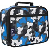 Lunch Box, Wildkin Lunch Box, Insulated, Moisture Resistant, and Easy to Clean with Helpful Extras for Quick and Simple Organization, Ages 3+, Perfect for Kids or On-The-Go Parents – Blue Camo