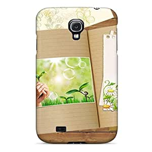 First-class Case Cover For Galaxy S4 Dual Protection Cover Book Of Spring