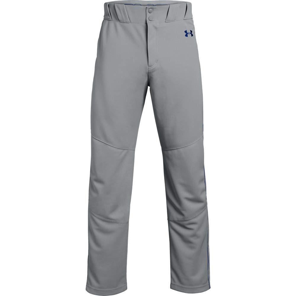 Under Armour Utility Relaxed Piped Baseball Pants, Baseball Gray (081)/Royal, Medium