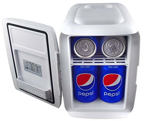 Cooluli Mini Fridge Electric Cooler and Warmer (4 Liter/6 Can): AC/DC Portable Thermoelectric System w/Exclusive On the Go USB Power Bank Option (White) by Cooluli (Image #6)