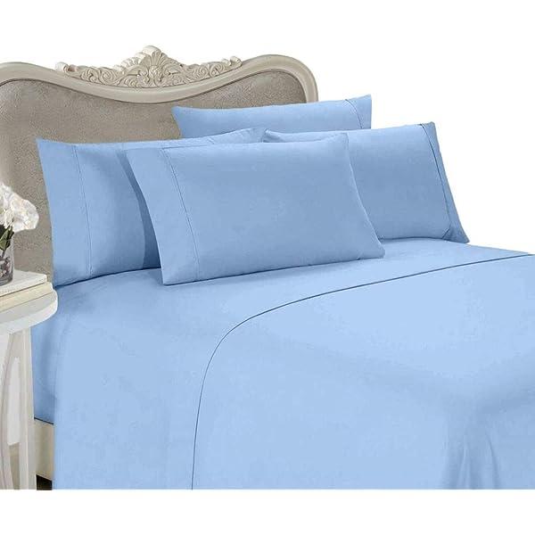 1200 TC Egy Cotton Egyptian Blue Striped 8,10,12,15 Inch Deep Pkt Bedding Items