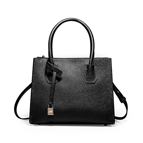 Black 26 gray Borsa A Pelle Tracolla Vera 21 Cm Tote Donna Tinta moda Capacità Xmyl grande 13 Unita Bag Borsetta UqHSx1wB