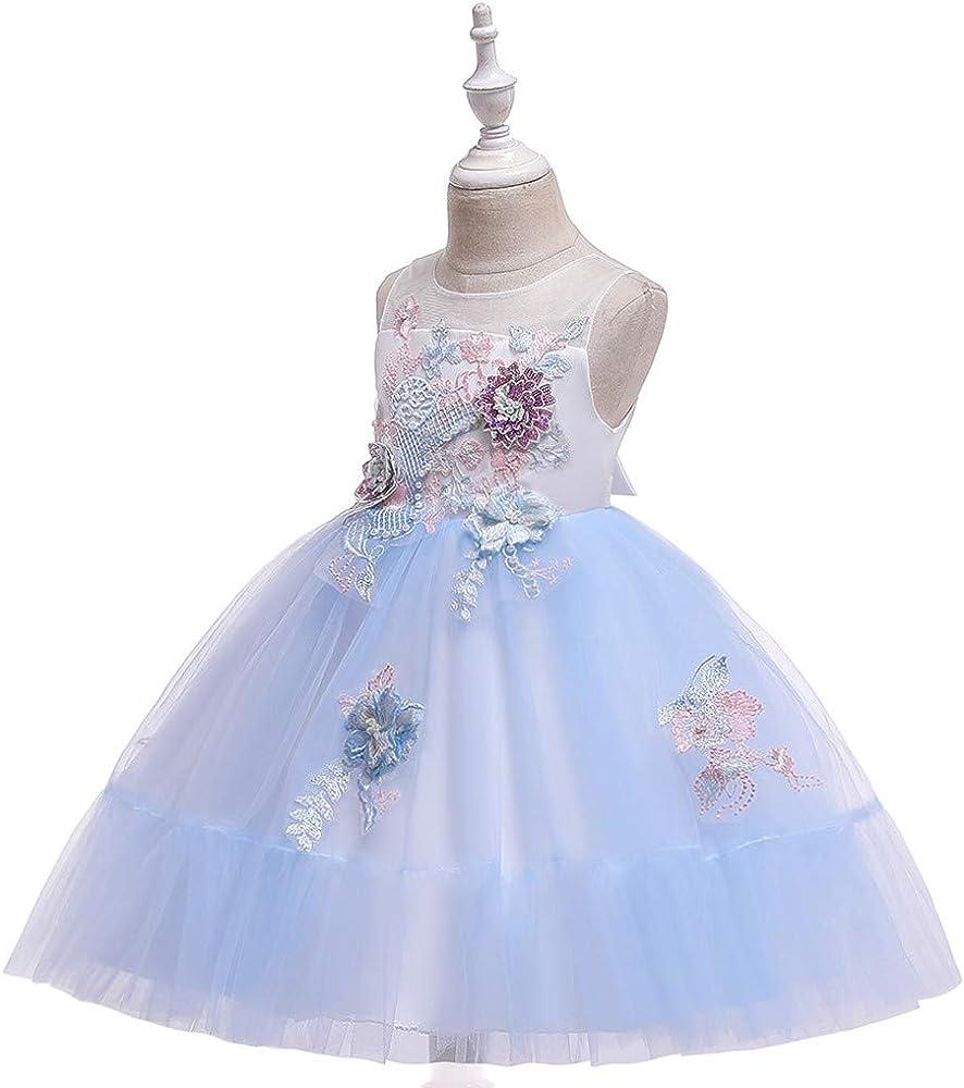 Vestido Princesa Niñas Vestidos para Cumpleaños Bebé de Manga ...